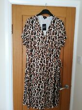 New Ladies Next Animal print wrap dress size 22