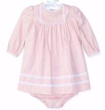Nwt Ralph Lauren Sz24months Baby Lace-Trim Baumwolltwill Kleid mit /