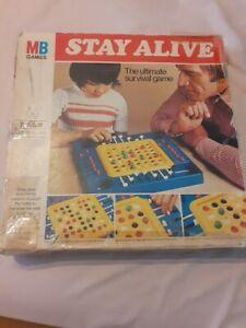 Vintage MB stay alive board game 1975 *COMPLETE*