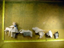 5 x excavated vintage damaged doll parts Germany age 1890 mixed media Art B 564