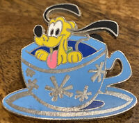 Pluto In A Blue Teacup Disney Pin