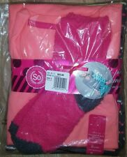 SO THERMAL & KNIT 2-PIECE PAJAMA SET W/ COZY SOCKS - SIZE SMALL LONG - NWT