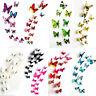 12 3D Schmetterling Wandaufkleber Wandtattoo Wandsticker Kinder Zimmer Wand Deko