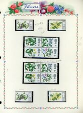 FLOWERS FLORA on White Ace Album Page Lot #26 - SEE SCAN - $$$