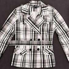Insight White Black windbreaker Jacket plaid Size 6