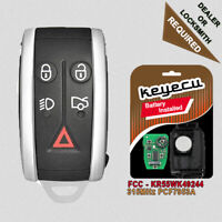 Replacement Remote Key Fob 315MHz PCF7953A for Jaguar XF XFR XK XKR KR55WK49244