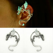 Unisex Luminous Dragon Ear Cuff Lure Clip Earring Punk Charm Jewelry Party Gift