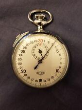 Vintage Heuer Ref#260605 30 Sec/15 Mins 1970's Manuel Wind Stopwatch