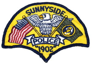 SUNNYSIDE WASHINGTON Sheriff Police Patch VINTAGE OLD CHEESECLOTH USED AA24