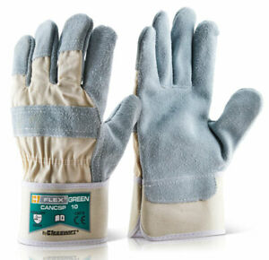 B-Flex Canadian Heavy Duty Leather Rigger Glove Green (Pack Of 100 lge) - Cancsp