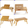 Portable Folding Lap Desk Bamboo Laptop Breakfast Tray Snack Bed Table Stand