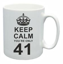 41st Novelty Birthday Gift Present Tea Mug Keep Calm Your Only 41 Coffee Cup