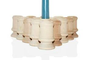 """10- 2.5"""" Tall Natural Wood Candlestick Holders DIY Wedding Accents Home Decor"""
