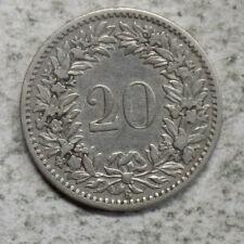Switzerland 1883 20 Rappen Coin