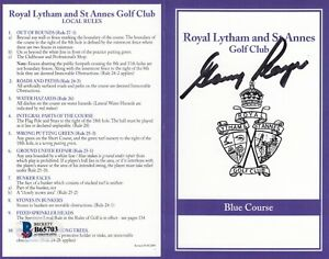 Gary Player Royal Lytham And ST Annes  Signed Scorecard beckett certified