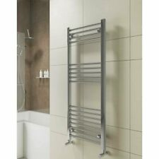 York Flat Heated Towel Rail 1200mm H x 400mm W Chrome