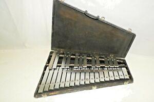 Musser M645 Orchestra Bells Glockenspiel 2.5 Octaves Steel Bars in Case G-C