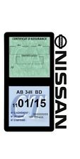 Porte vignette assurance NISSAN double étui adhésif voiture Stickers auto rétro