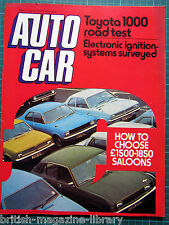 Autocar 8/5/1976 Spanish Grand Prix Test: Toyota 1000 Jensen Interceptor Cobra