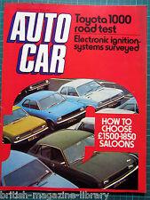 Autocar 8/5/1976 Spanish Grand Prix Test: Toyota 1000 Jensen Interceptor Cobra