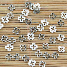 400pcs tibetan silver color 5mm cross spacer frame charms EF2197
