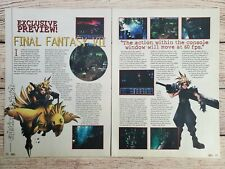 Final Fantasy VII 7 PC Playstation 1 2-Page Preview Article Vintage Print Poster