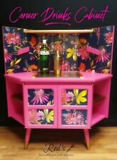 Funky Pink Retro Drinks Cabinet