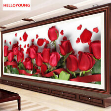 DIY 5D Red Rose Flowers Full Drill Diamond Painting Kits Cross Stitch Home Decor