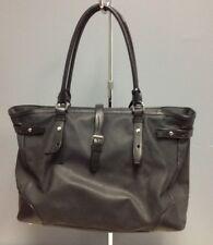 TUMI Black Coated Canvas Leather Trim Zip Closure Padded Travel Laptop Bag B4371
