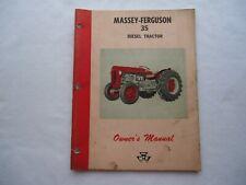 Genuine Original Massey Ferguson Mf 35 Diesel Tractor Owners Manual Maintenance