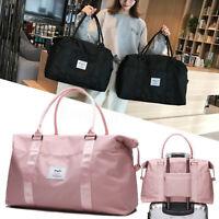 Women Waterproof Nylon Weekend Luggage Gym Bag Carry on Handbag Tote Sport Bags