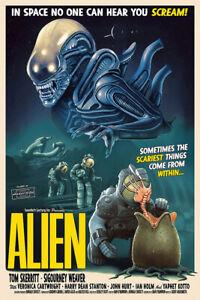 Alien 1971 Vintage Movie Poster - Art Print