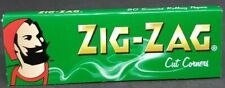 Zig Zag Green Rolling Papers Cut Corners  Buy 4 or more @ $.80/Pack! USA SHIPPED