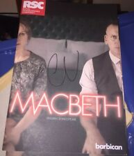 CHRISTOPHER ECCELESTON SIGNED MACBETH  SIGNED THEATRE PROGRAMME DR WHO