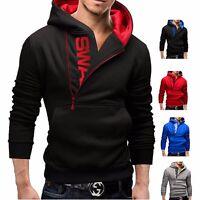 Slim Men's Hoodie Warm Hooded Sweatshirt Jacket Outwear Sweater Zipper Tops Coat