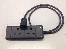 More details for marten® ups iec to uk converter 2 gang uk cw iec c14 (kettle) plug 1m black