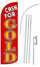 Cash For Gold Flag Sign Banner Flutter Feather