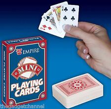 MINI SMALL LIGHT TRAVEL PLAYING CARDS CHILDRENS BOYS MENS PRESENT