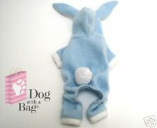 Blue Bunny Easter Yorkie Chihuahua Dog Costume Fleece Pajamas X-Small XS
