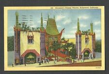 HOLLYWOOD CA GRAUMANS CHINESE THEATRE, POSTED LINEN TYPE