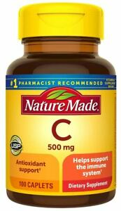 Nature Made Vitamin C 500 mg Full Immune System Support Supplement 100 Caplets