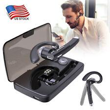 Business Bluetooth Headset Hd Voice Wireless Call Headphone Led Digital Display