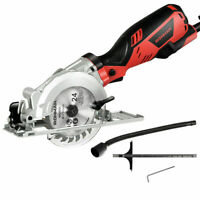 "Electric Mini 4-1/2"" Circular Saw 3500 RPM Handheld Cutting Tool Accessory Kit"