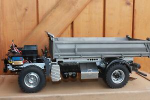 Lesu Man Kipper 4x4 With Driver's Cab Dump Truck + Hydraulic New + Suitcase 1:14