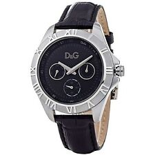 D&G Dolce and Gabbana Unisex Chamonix Black Dial Chronograph Watch DW0648