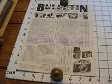 Vintage Early Paper: CAPITAL PHOTO SUPPLIES bulletin Camera pric sheet Austin tx