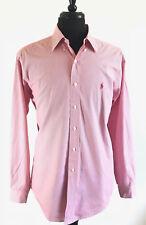 Ralph Lauren Men's Shirt Rede Striped 16 34/35 Yarmouth Oxford Casual Dress