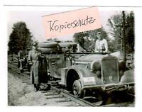 WW 2 Russland Feldzug 43 Testfahrt Spezial Schienenfahrzeug Sikejevo - Brjansk