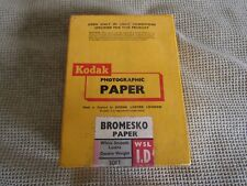 """Kodak Photographic Paper 100 Sheets White Smooth Lustre 3 1/2"""" X 4 3/4"""" Sealed"""