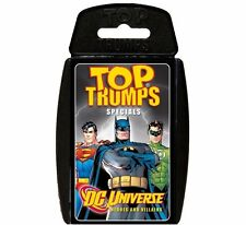 DC UNIVERSE SUPERHERO Top Trumps TRIVIA Cards BATMAN SUPERMAN * Stocking Stuffer